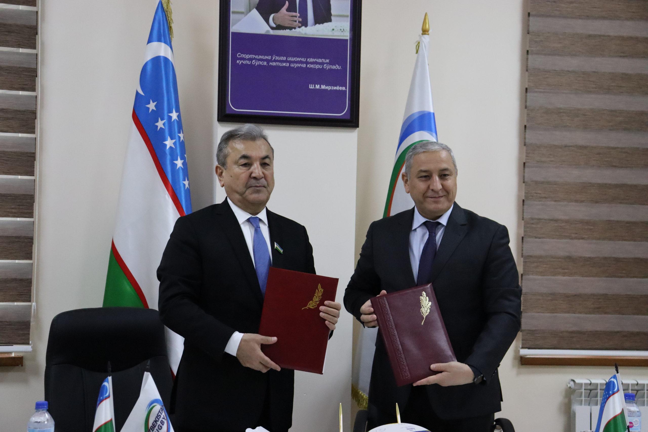 Подписан меморандум между Узбекским государственным университетом физической культуры и спорта и Федерацией регби Узбекистана