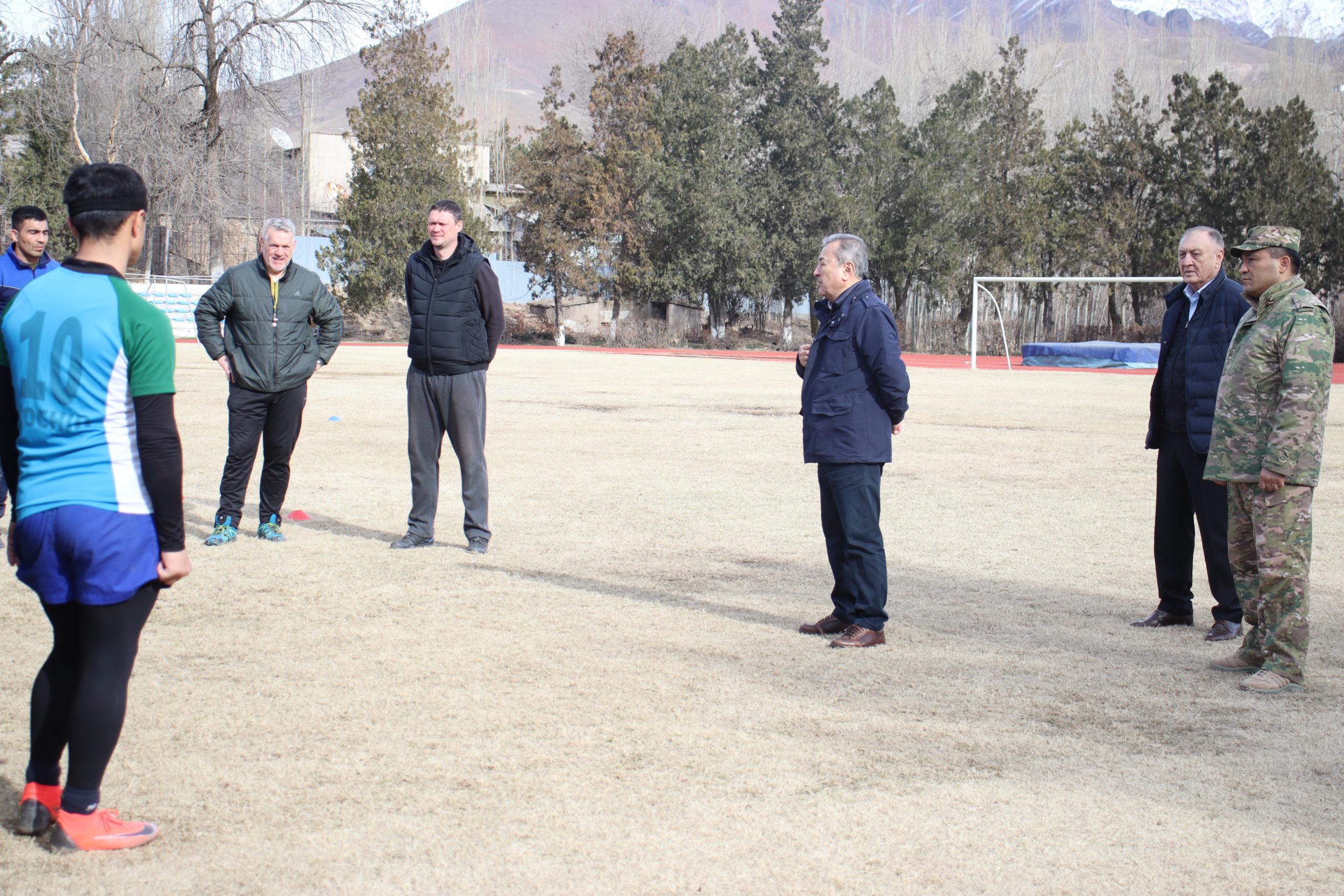 Руководство Федерации регби Узбекистана посетило УТС Национальной сборной по регби.